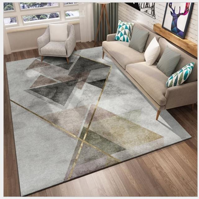 【JEN】北歐簡約輕奢幾何地毯地墊防滑墊120*160cm(多款可選 封面圖是XD012)