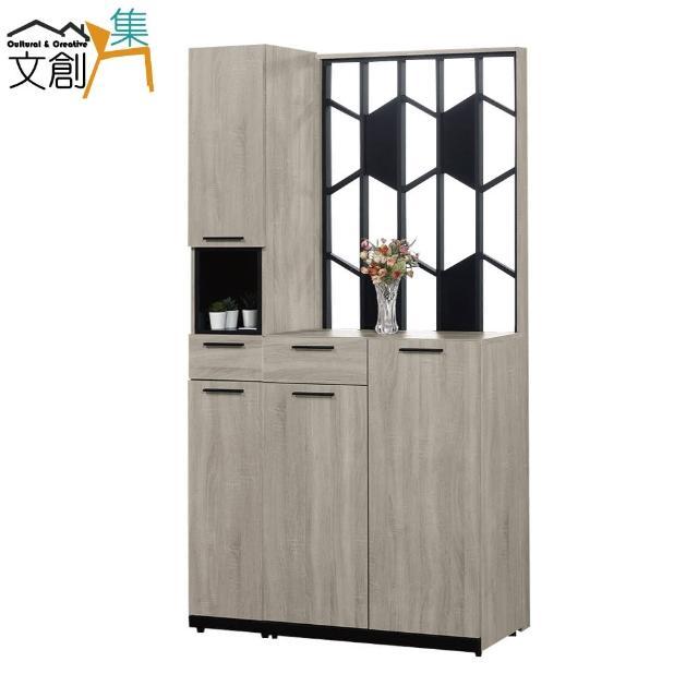 【文創集】賽美 現代3.7尺四門二抽玄關櫃/收納櫃