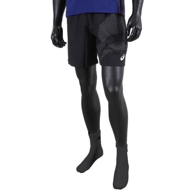 【asics 亞瑟士】Asics Shorts 男 短褲 運動 休閒 訓練 輕量 透氣 快乾 無內裡 黑(2041A145-001)