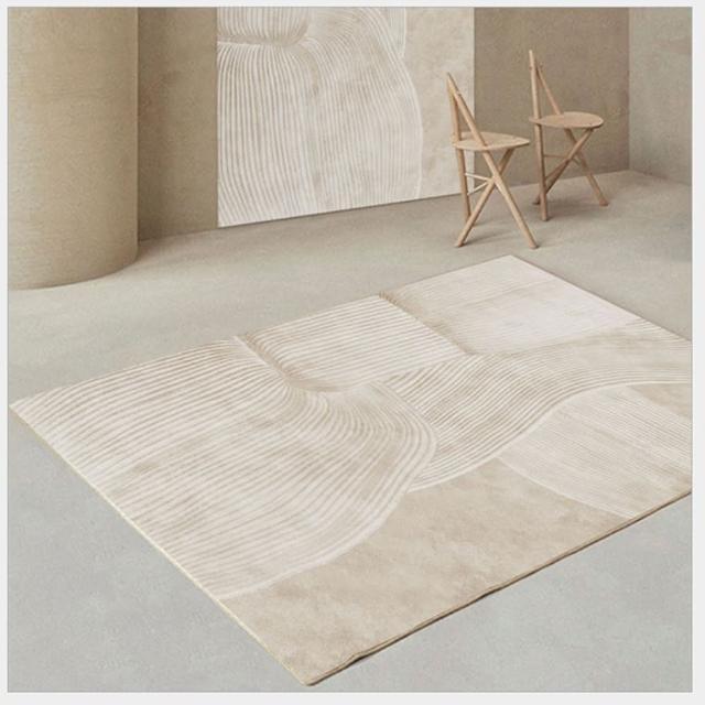 【JEN】北歐加厚仿羊絨長毛地毯地墊防滑墊120*160cm(FYR0108)