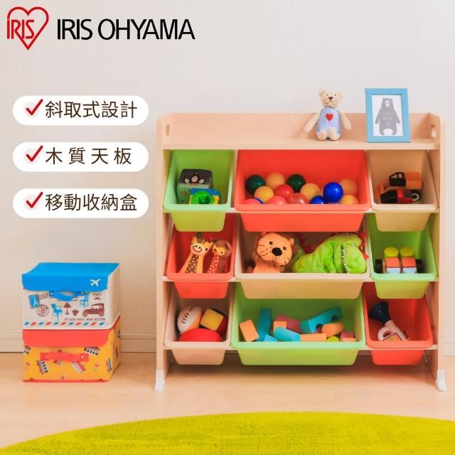 【IRIS】木質天板童心玩具收納架 TKTHR-39(兒童學習/收納/玩具/日本設計)