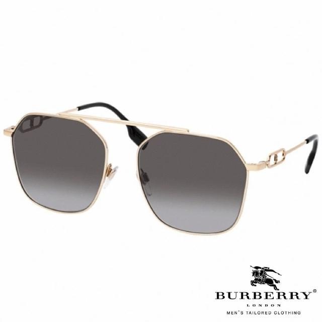 【BURBERRY 巴寶莉】時尚金屬流線款(灰#3124 1109/8G)