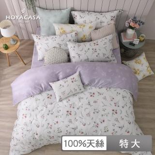 【HOYACASA】100%抗菌天絲兩用被床包組-艾薇兒(特大)