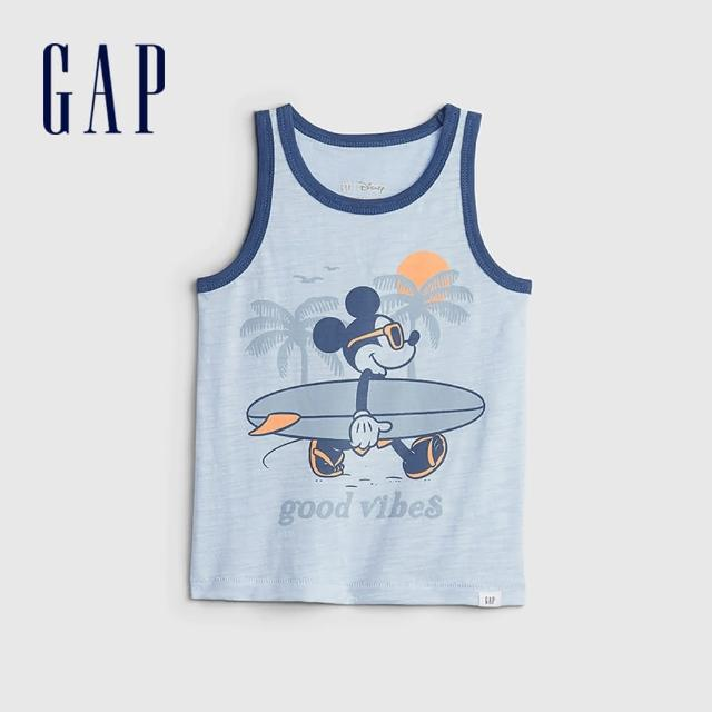 【GAP】男幼童 Gap x Disney 迪士尼系列透氣背心(687841-灰藍色)