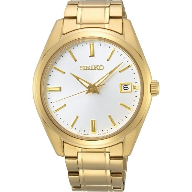 【SEIKO 精工】CS 時尚石英藍寶石水晶手錶39mm(SUR314P1/6N52-00A0K)