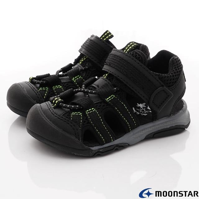 【MOONSTAR 月星】護趾涼鞋機能款(MFLS003C6-黑-15-21cm)