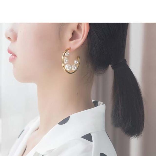 【HaNA 梨花】韓國絕版款.金圈大小珍珠紫祺同款耳環