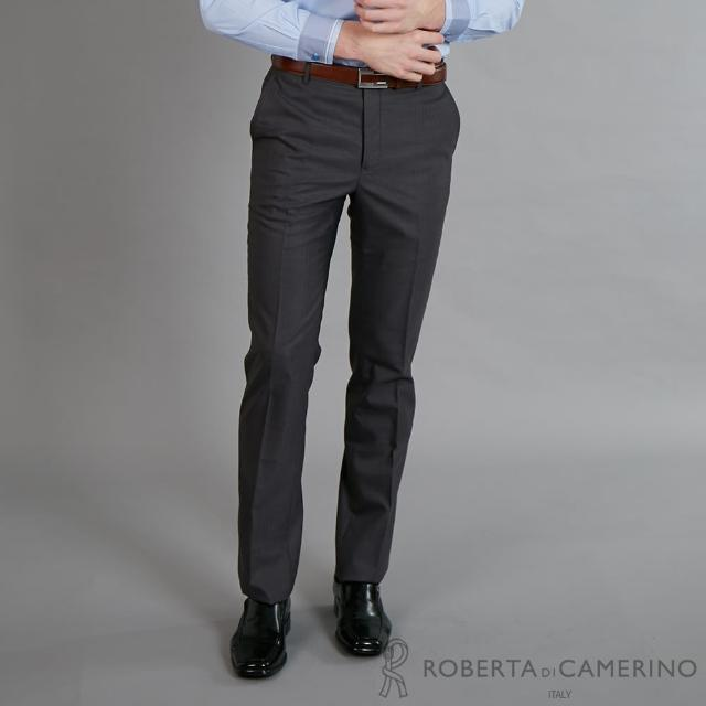 【ROBERTA 諾貝達】進口素材 職場必備精選西裝褲(黑灰)