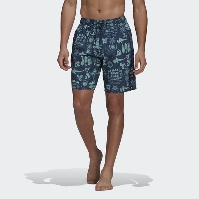 【adidas 愛迪達】短褲 男款 運動 足球 慢跑 海灘褲 FESTIWLD CLX CL 藍 GM2224