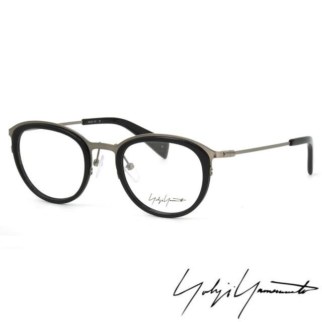 【Y-3 山本耀司】Yohji Yamamoto時尚金屬復古圓框光學眼鏡(黑銀-YY1023-019)