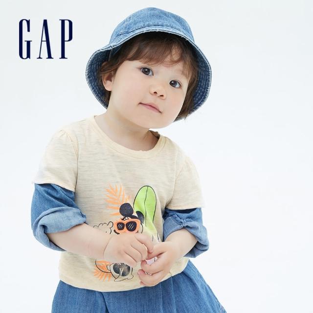 【GAP】女幼童 Gap x Disney 迪士尼系列純棉短袖T恤(689288-米妮圖案)
