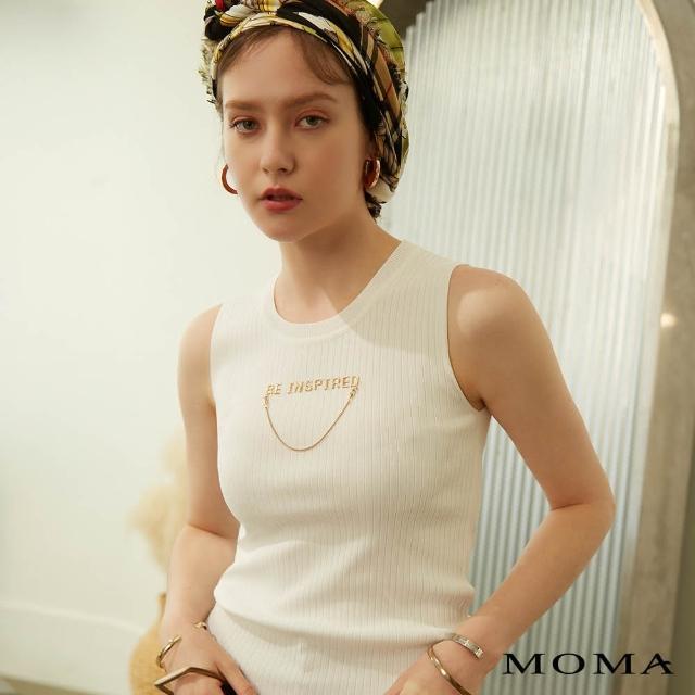 【MOMA】金屬造型鍊條針織背心(兩色)