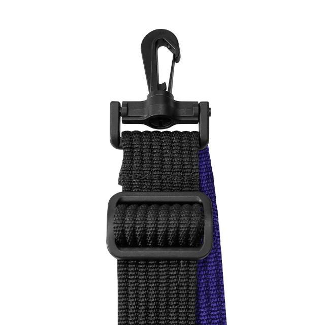 【AOU 微笑旅行】YKK扣具 輕量活動式強化耐重背帶 側背帶 公事包背帶 尼龍背帶 黑配紫 03-007D10
