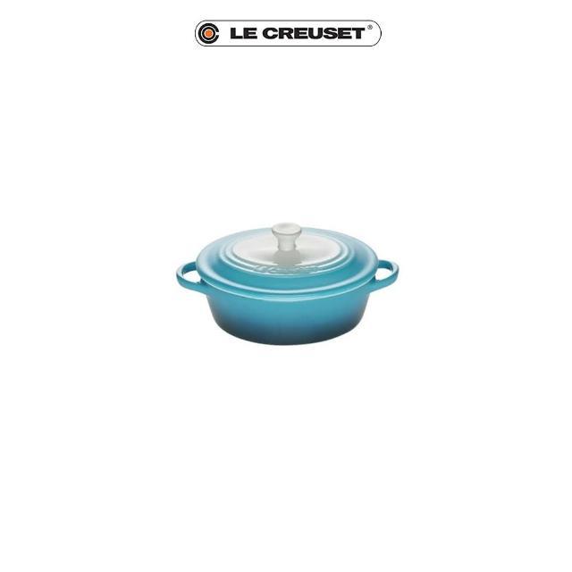 【Le Creuset】瓷器迷你橢圓烤盅(晨曦藍)