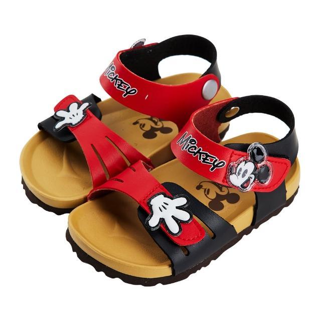 【Disney 迪士尼】迪士尼童鞋 米奇 造型手套魔鬼氈涼鞋-紅(MIT台灣在地工廠製造)