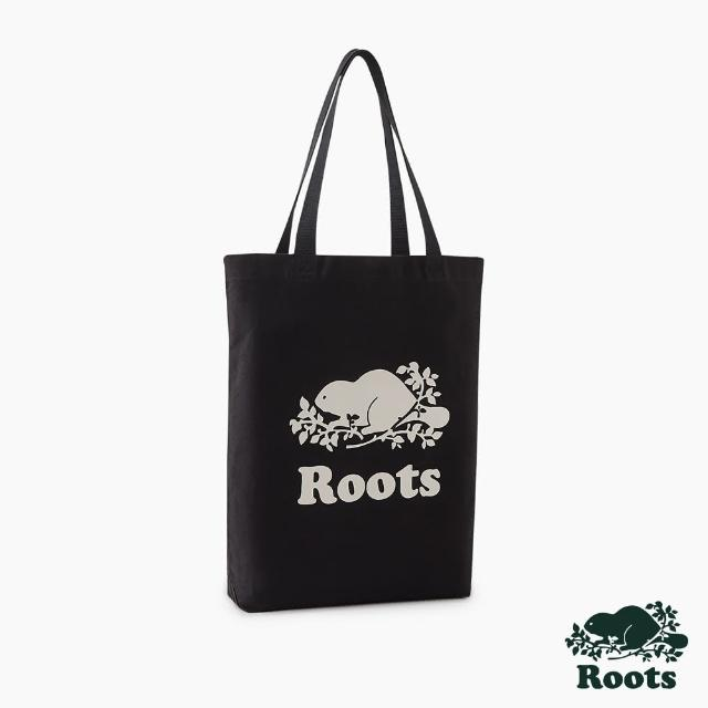 【Roots】Roots配件-有機棉帆布袋(黑色)
