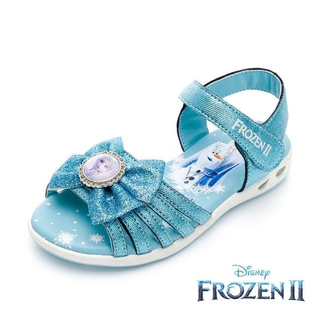 【Disney 迪士尼】冰雪奇緣2 電燈款 休閒涼鞋 藍(FNKT14126正版授權)