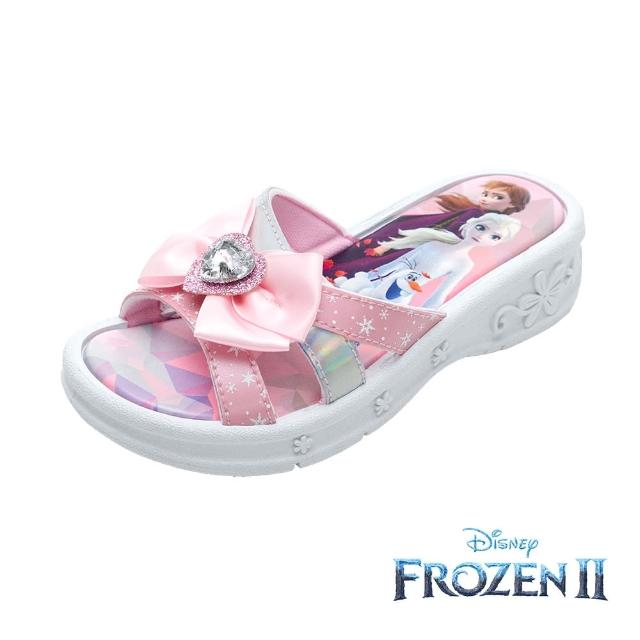 【Disney 迪士尼】冰雪奇緣2 休閒拖鞋 櫻花粉(FNKS14023正版授權)