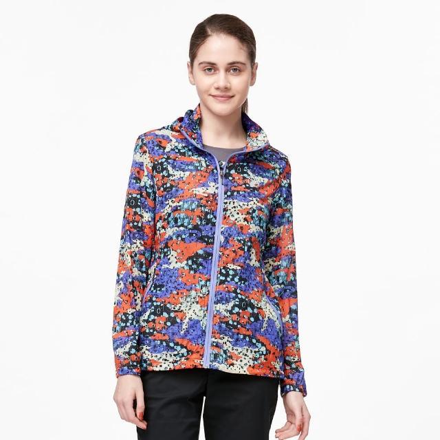 【Wildland 荒野】女N66透氣抗UV印花輕薄外套(紫羅蘭色)