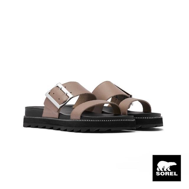 【SOREL】女款城市漫遊系列拖鞋(米灰色)