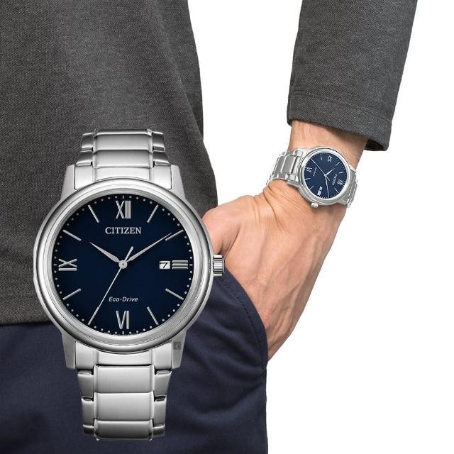 【CITIZEN 星辰】光動能城市手錶-藍(AW1670-82L)
