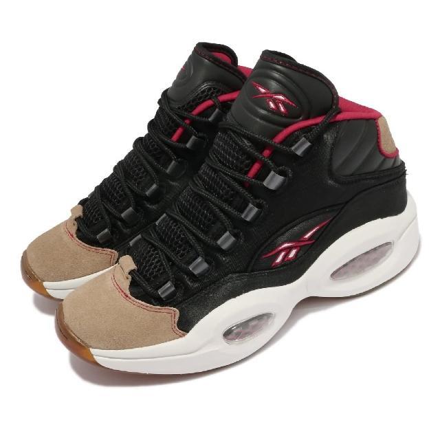 【REEBOK】籃球鞋 Question Mid 運動 男鞋 海外限定 避震 包覆 球鞋 穿搭 黑 白(H00847)