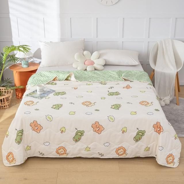 【Annette】親膚水洗棉涼被 柔軟 舒適 環保印染(櫻桃小熊)