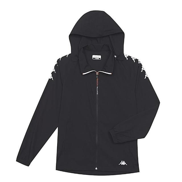 【KAPPA】吸濕排汗速乾單層外套-Kappa 4Team(黑 37168MW005)