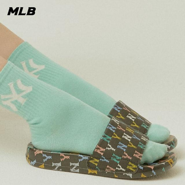 【MLB】拖鞋 彩色老花Monogram系列 紐約洋基隊(32SHHM111-50L)