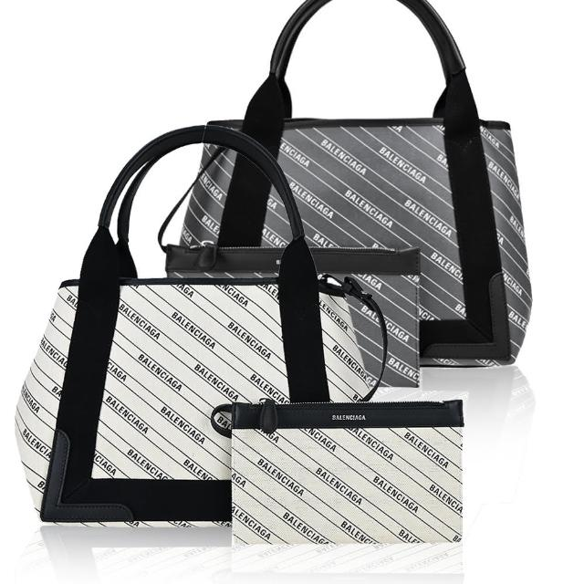 【Balenciaga 巴黎世家】經典NAVY系列帆布/PVC手提/肩背包(S/任選)