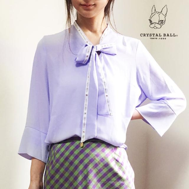 【CRYSTAL BALL 狗頭包】CB bowtie blouse時尚上衣(狗頭包)