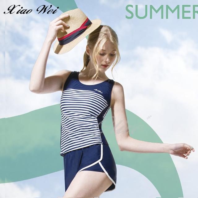 【梅林品牌】流行大女二件式泳裝(NO.M04678)