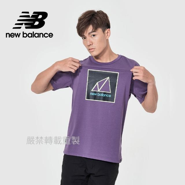 【NEW BALANCE】NB 戶外系列短袖T_男款_紫色_AMT11585SG6(亞版 版型正常)