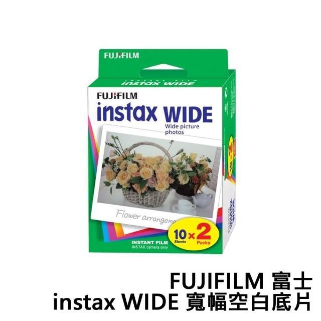 【FUJIFILM 富士】instax WIDE 寬幅空白底片 寬形底片(60張)