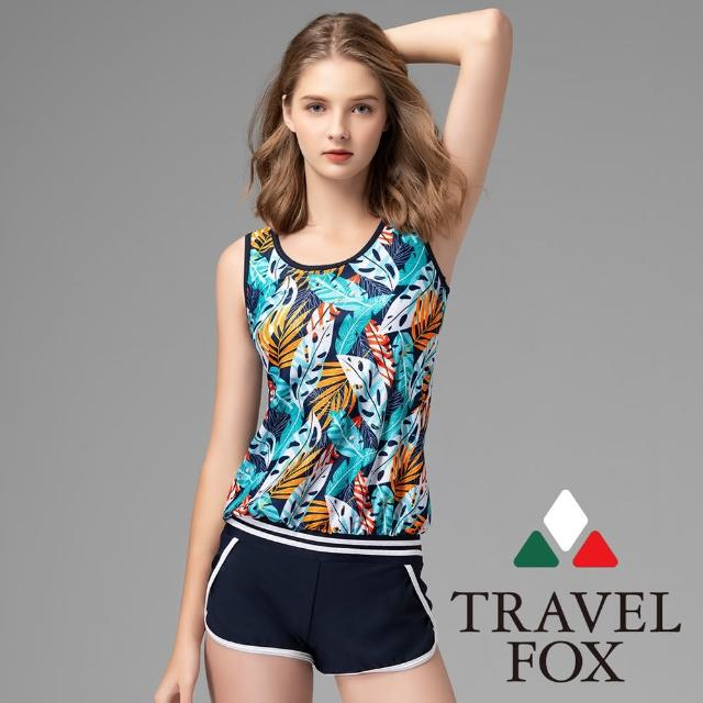 【Summer Love 夏之戀】TRAVEL FOX泳衣 大女連身褲二件式(C21720)