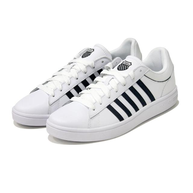 【K-SWISS】尚運動鞋 Court Winston 男 白 黑(06154919)