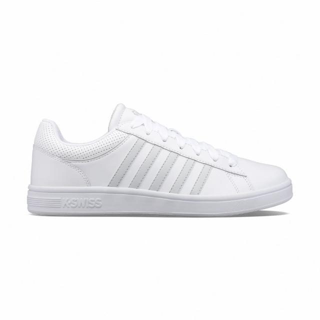 【K-SWISS】時尚運動鞋 Court Winston 男 白 灰(06154917)