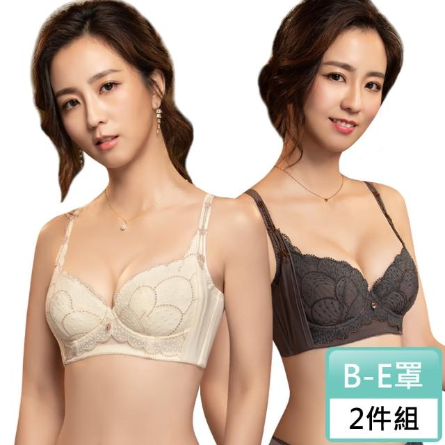 【Swear 思薇爾】流金巴洛克系列B-E罩背心型蕾絲包覆女內衣2件組(隨機出貨)