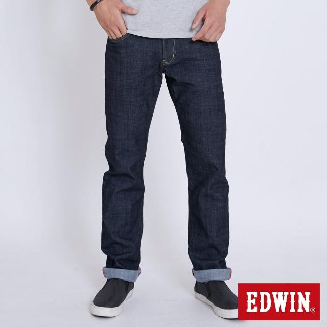 【EDWIN】EDGE 復刻紅線直筒牛仔褲-男款(原藍色)