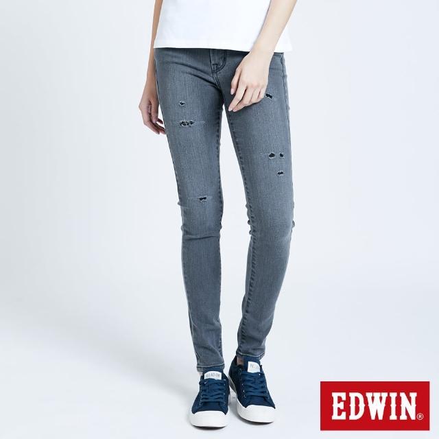 【EDWIN】MISS 503修身微彈牛仔褲-女款(灰色)