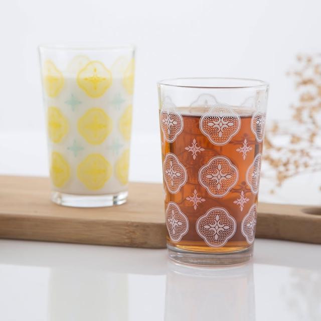 【印花樂】海棠花開玻璃杯2入組