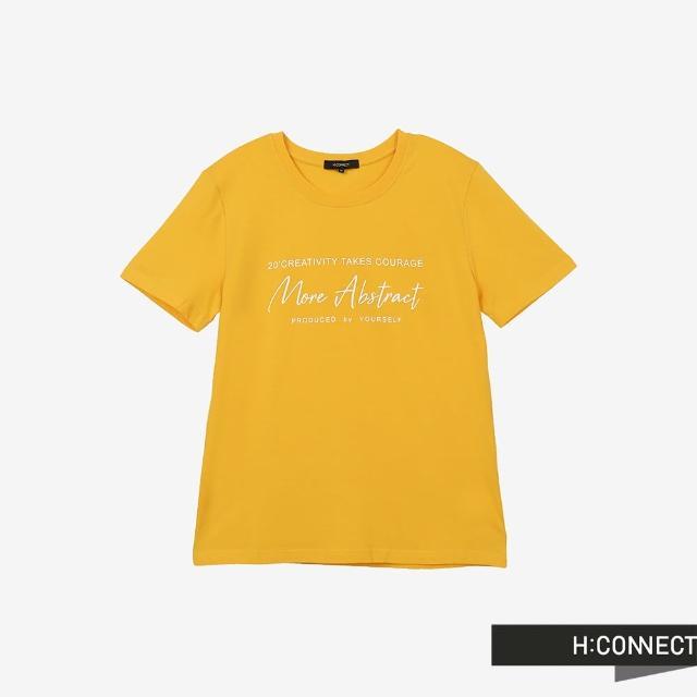 【H:CONNECT】韓國品牌 男裝 -圓領英文字樣T-Shirt(黃色)