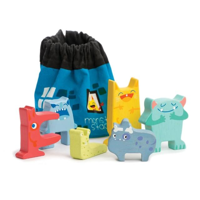 【Tender Leaf Toys】小怪物趣味疊疊樂(內附6種怪獸積木)