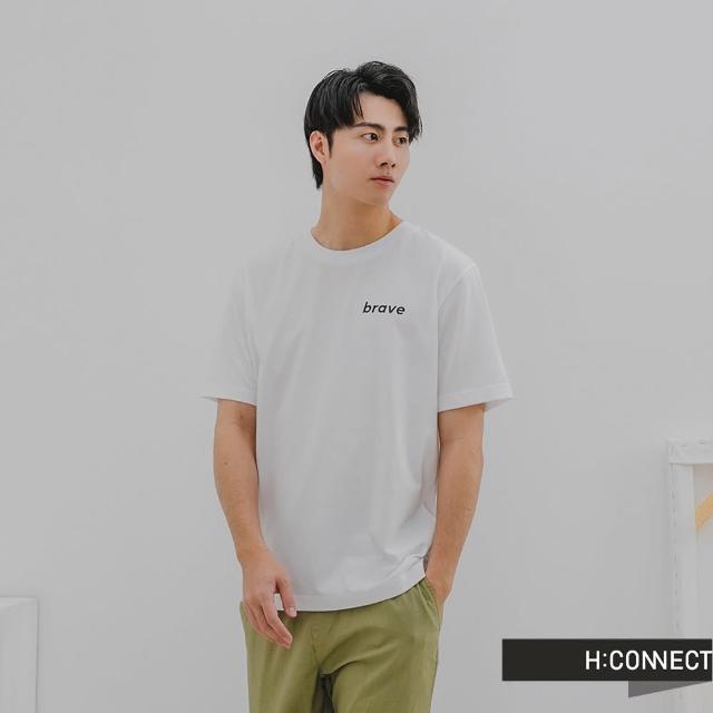 【H:CONNECT】韓國品牌 男裝 -簡約英文個性字樣T-shirt(白色)