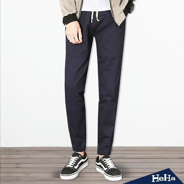 【Heha】抽繩綁帶束腳休閒長褲(三色)