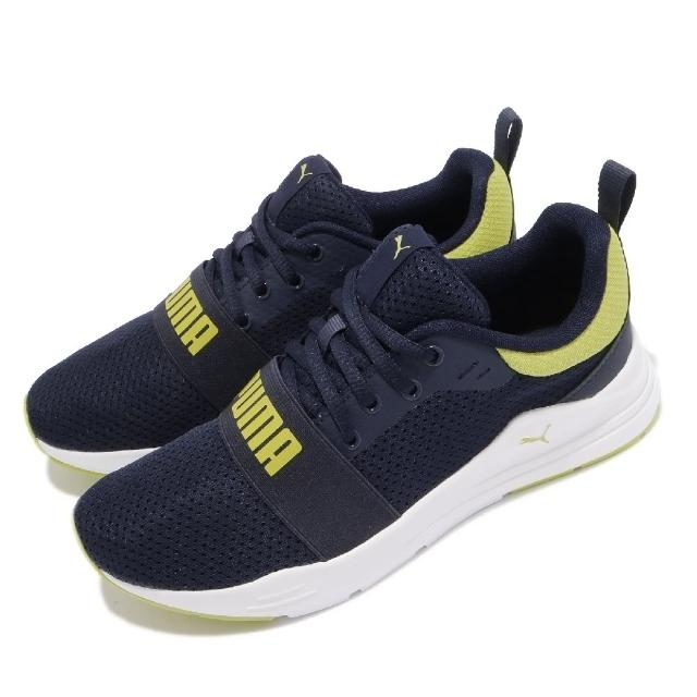 【PUMA】慢跑鞋 Wired Run 運動休閒 女鞋 路跑 緩震 輕量 透氣 球鞋穿搭 大童 藍 白(37421407)