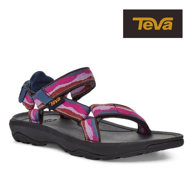 【TEVA】原廠貨 中/大童 Hurricane XLT2 機能運動涼鞋/雨鞋/水鞋/童鞋(野地靛藍紫)