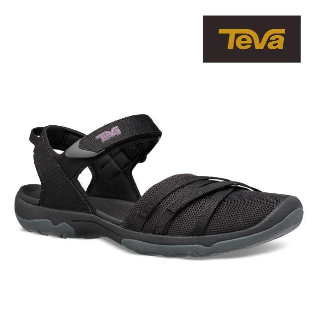 【TEVA】原廠貨 女 Tirra CT 水陸多功能護趾運動涼鞋/雨鞋/水鞋(黑色-TV1106837BLK)