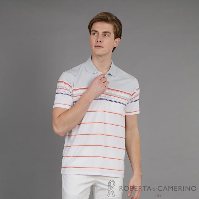 【ROBERTA 諾貝達】台灣製 都會休閒 時尚品味短袖POLO棉衫(灰色)
