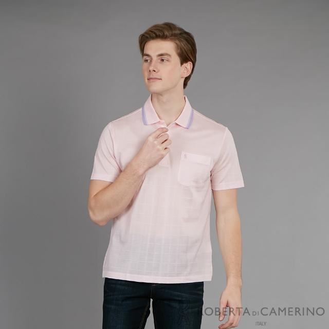 【ROBERTA 諾貝達】台灣製 舒適休閒 純棉短袖POLO棉衫(粉色)